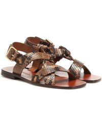 Zimmermann Snake-effect Leather Sandals - Multicolour