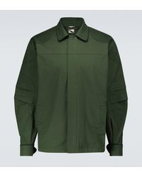 GR10K Hemdjacke DMS Order aus Baumwolle - Grün