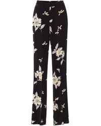 Etro Floral High-rise Straight Pants - Black