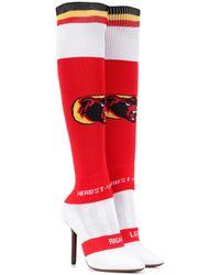 Vetements Botas calcetín de punto elastizadas - Rojo
