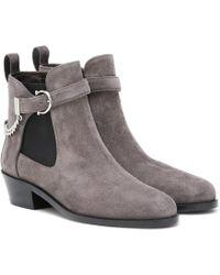 Ferragamo Gancini Suede Ankle Boots - Multicolor