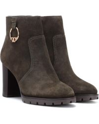 Tory Burch - Sofia Suede Ankle Boots - Lyst