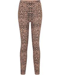 Alaïa Leopard-jacquard Mid-rise leggings - Natural