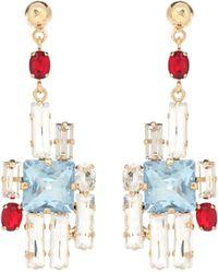 Erdem Crystal Drop Earrings - Multicolor