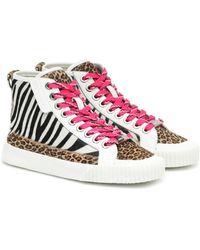 Jimmy Choo Impala Hi/f Animal-print Sneakers - Multicolour