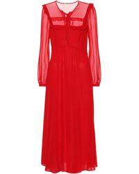 Miu Miu Silk Georgette Dress - Red