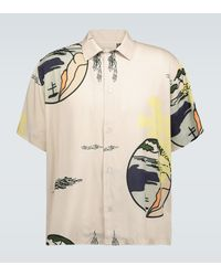 Éditions MR Eric Printed Short-sleeved Shirt - Natural