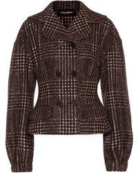 Dolce & Gabbana - Checked Wool-blend Jacket - Lyst