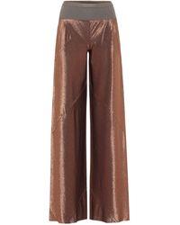 Rick Owens Pantalon ample Lilies métallisé - Marron