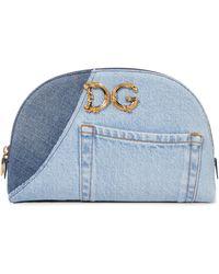 Dolce & Gabbana Kosmetiketui DG Girls aus Denim - Blau