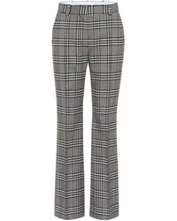 See By Chloé Checked High-rise Wide-leg Trousers - Grey
