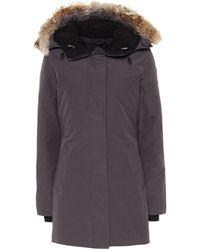 Canada Goose Victoria Fur-trimmed Parka - Gray