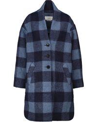 Étoile Isabel Marant Gabriel Checked Coat - Blue