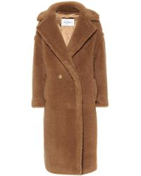 Max Mara Manteau Teddy - Marron