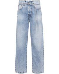Acne Studios High-Rise Cropped Jeans - Blau