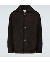 Bottega Veneta Oversized Heavy Wool Cardigan - Black