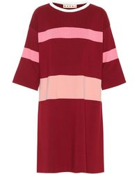 Marni - Wool And Cashmere-blend Dress - Lyst