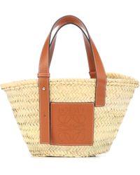 Loewe Medium Raffia Basket Bag - Multicolor