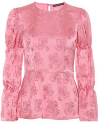 ALEXACHUNG Jacquard Top - Pink