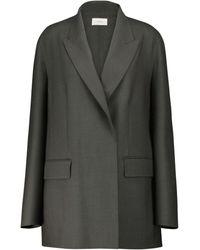 The Row Blazer Tristan de lana - Gris