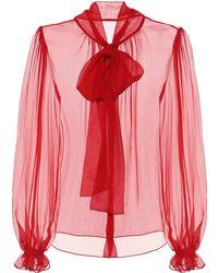 Dolce & Gabbana - Exclusive To Mytheresa – Silk Chiffon Blouse - Lyst