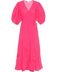 RHODE Fiona Cotton Wrap Dress - Pink