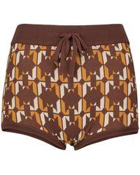 Dodo Bar Or Culottes in maglia jacquard - Arancione