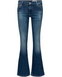 AG Jeans High-Rise Bootcut Jeans - Blau