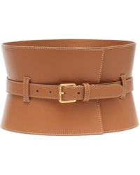 Altuzarra Exclusive To Mytheresa – Obie Leather Corset Belt - Brown