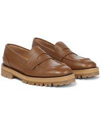 Dries Van Noten Leather Loafers - Black