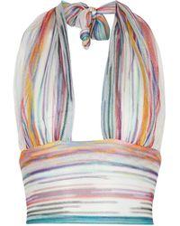 Missoni Top de punto a rayas - Multicolor