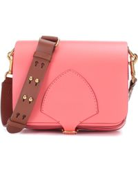 Burberry Borsa The Square in pelle - Rosa