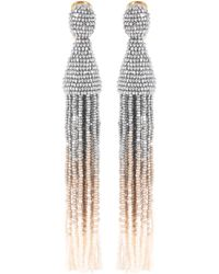 Oscar de la Renta - Tasseled Clip-on Earrings - Lyst