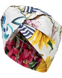 Dolce & Gabbana Turbante a stampa floreale in cotone - Multicolore