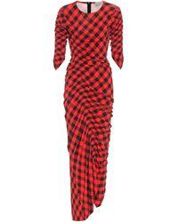 Preen By Thornton Bregazzi Edana Checked Dress - Red