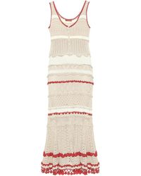 Altuzarra Herrik Crochet Knit Maxi Dress - Natural