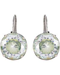 Bottega Veneta - Cubic Zirconia Clip-on Earrings - Lyst
