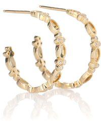 Stone Paris Ohrringe Volupté Small Hoop aus 18kt Gold mit Diamanten - Mettallic