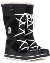Sorel Glacy Explorer Suede Boots - Black