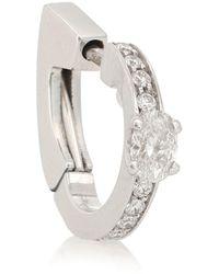 Repossi Harvest 18kt White Gold And Diamond Single Earring - Multicolour