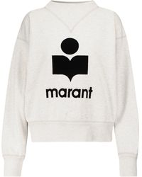 Étoile Isabel Marant Moby Cotton-blend Sweatshirt - White