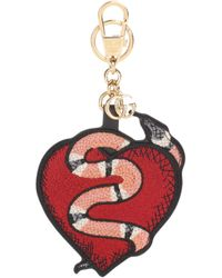 Gucci - Heart And Snake Keychain - Lyst