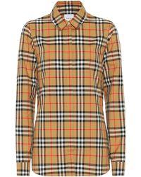Burberry Vintage Check Cotton Shirt - Natural
