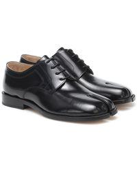 Maison Margiela Tabi Leather Derby Shoes - Black