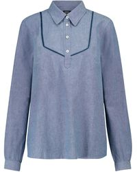 A.P.C. Blusa Amanda de cambray de algodón - Azul