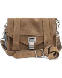 Proenza Schouler - Ps1 Mini Crossbody Suede Shoulder Bag - Lyst