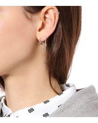 Maria Tash 14kt White Gold Single Earring - Metallic