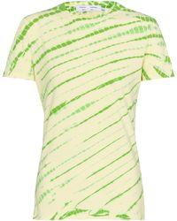 Proenza Schouler White Label - T-shirt a stampa tie-dye in cotone - Multicolore