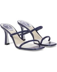 Rene Caovilla Bessie Crystal-embellished Sandals - Blue