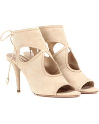 Aquazzura - Sexy Thing Suede Sandals - Lyst